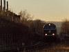 Szilveszteri különvonat érkezik Sopronba a zöld 2143 040-0 pályaszámú dízelmozdonnyal