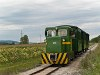 The Széchenyi Museum Railway's C50 of road number 2921 001-0 between Nádtelep and Nagycenk