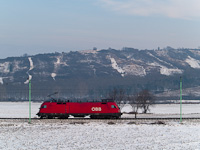 The ÖBB 1116 266-6 seen between Wulkaprodersdorf and Drassburg