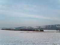 Tolatós tehervonat két GYSEV M44-essel Vulkapordány (Wulkaprodersdorf, Ausztria) és Darufalva (Drassburg, Ausztria) között