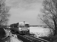 The twin-Bzmot of MÁV, the 6312 001-8 somewhere on the Szombathely-Kőszeg line