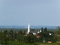View on Neusiedler See from Fertőmeggyes (Mörbisch am See)