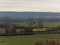 The GYSEV 247 509 is seen between Sopron-Ipartelep (used to be Sopron-Déli) and Ágfalva stations