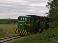 The Széchenyi Museum Railway's C50 of road number 2921 001-0 between Nagycenk and Nádtelep
