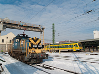 Full retro: old road numbers and one of the original two railcars in one picture - the M�V-TR V46 007 and the GYSEV 5047 501-1 at Sopron depot