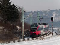 Az ÖBB 4124 018-5 Vulkapordány (Wulkaprodersdorf, Ausztria) és Darufalva (Drassburg, usztria) között