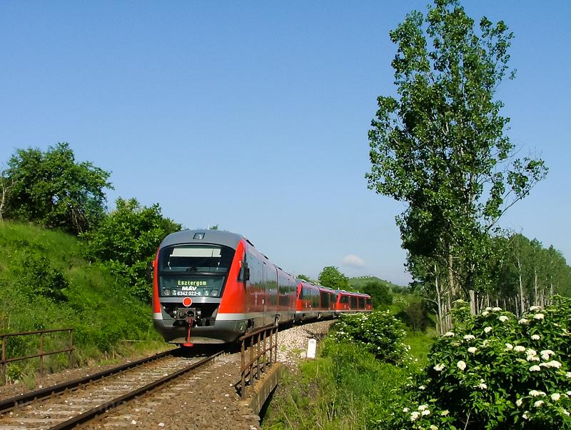 A 6342 022-8 Solymárnál fotó