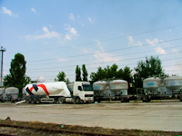 Cement unloading at Óbuda