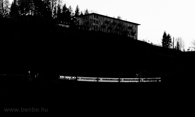 A NÖVOG 1099.001Winterbach alatt a Mariazellerbahn északi rámpáján (Nordrampe) fotó