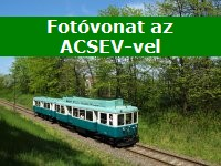 Phototrain with the ACSEV railcar