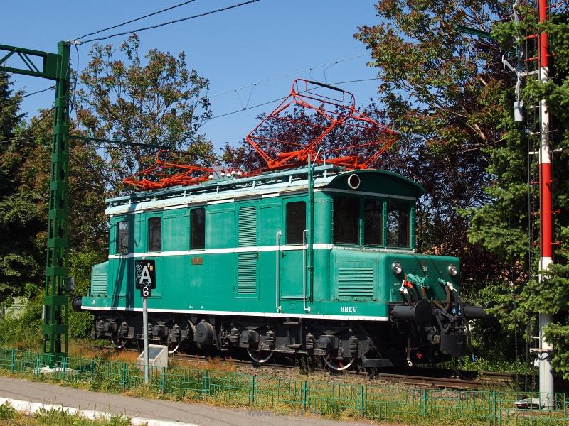 A 31-es pályaszámú LVI sorozatú BHÉV tehervonati mozdony Cinkotán fotó