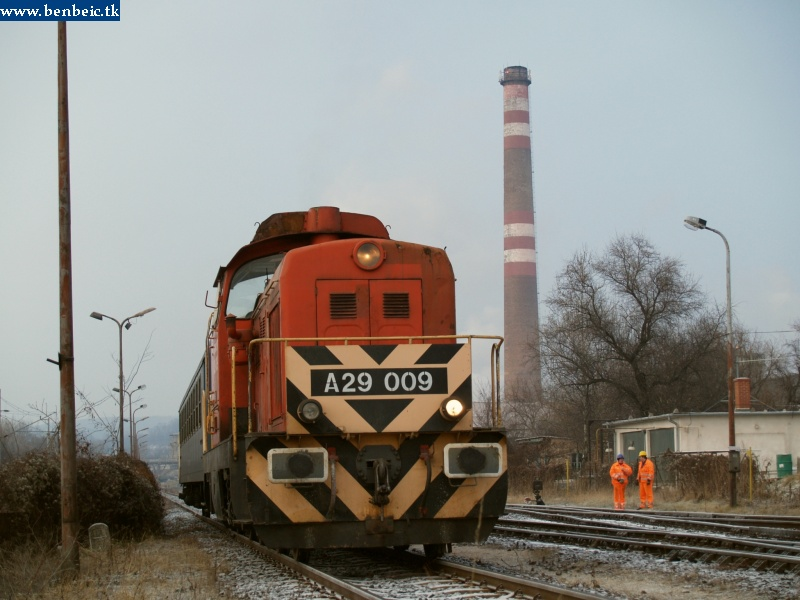 A29 009 az ajkai tímföldgyár iparvágányán fotó
