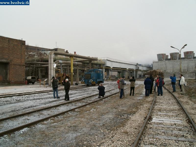 A26 018-at egy sereg vasútbarát fotózza fotó