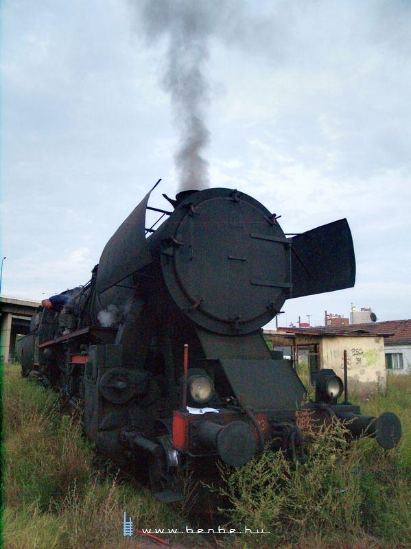A 23 087-es gõzmozdony Belgrádban fotó