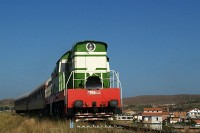 The T669 1044 is arriving at Rrogozhinë
