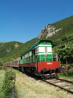 The T669 1047 with the morning service to Pogradec after Elbasan