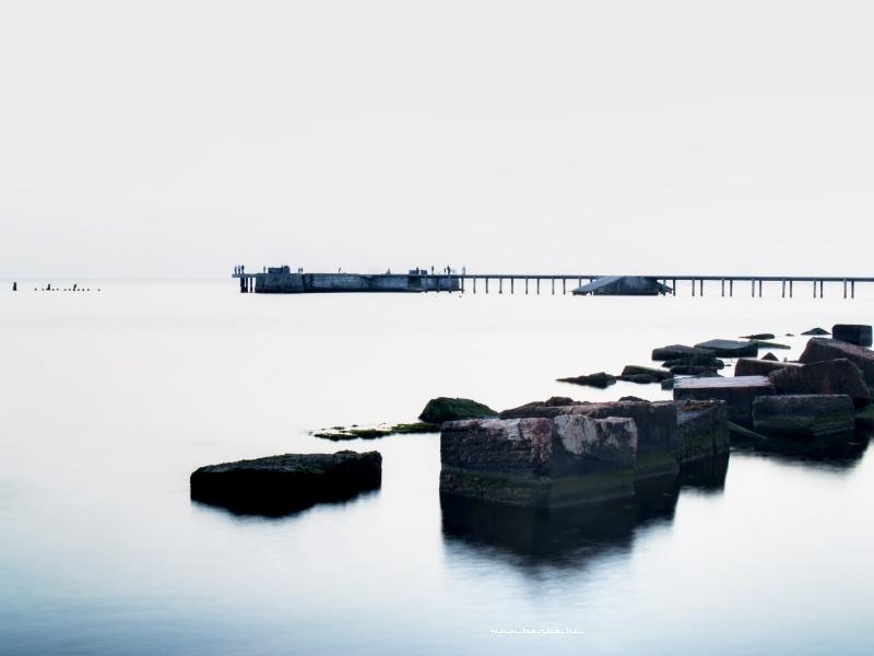 A durresi tengerparton fotó