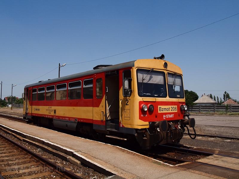 A MÁV-START Bzmot 206 Kunszentmárton állomáson fotó