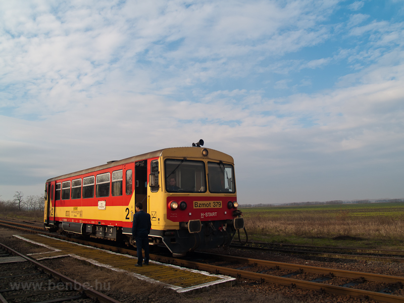 The MÁV-START Bzmot 379 seen at Kótpuszta photo