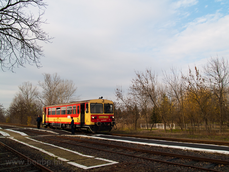 The MÁV-START Bzmot 379 seen at Komádi station photo