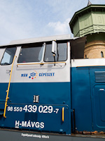 The M�V-G�p�szet 439 029 seen at the Szolnok shops