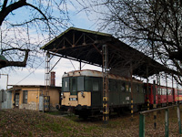 The track maintenance crew's railcar A-141 (class BCmot) seen at Vésztő