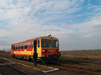 The MÁV-START Bzmot 379 seen at Kótpuszta