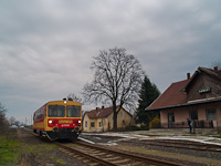 The MÁV-START Bzmot 379 seen at Komádi station