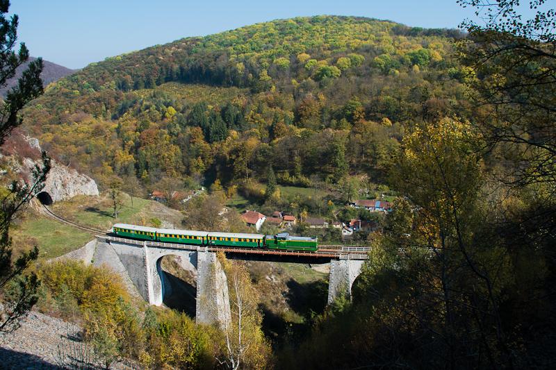 A CFR Calatori 69 0003-4 Gerlistye és Stájerlakanina között az Anina-viadukton (más néven Schlucht-viadukton) fotó