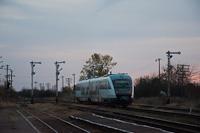 Egy ismeretlen CFR Calatori Desiro Vojtek állomáson a Szeged-Temesvár-Báziás fővonalon