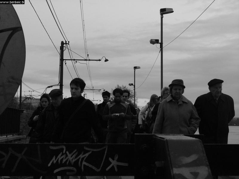 Árvíz - emberek árja fotó