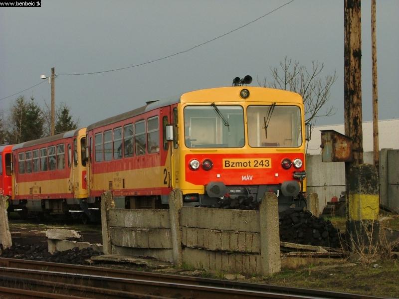 The Bzmot 243 at Balassagyarmat depot photo