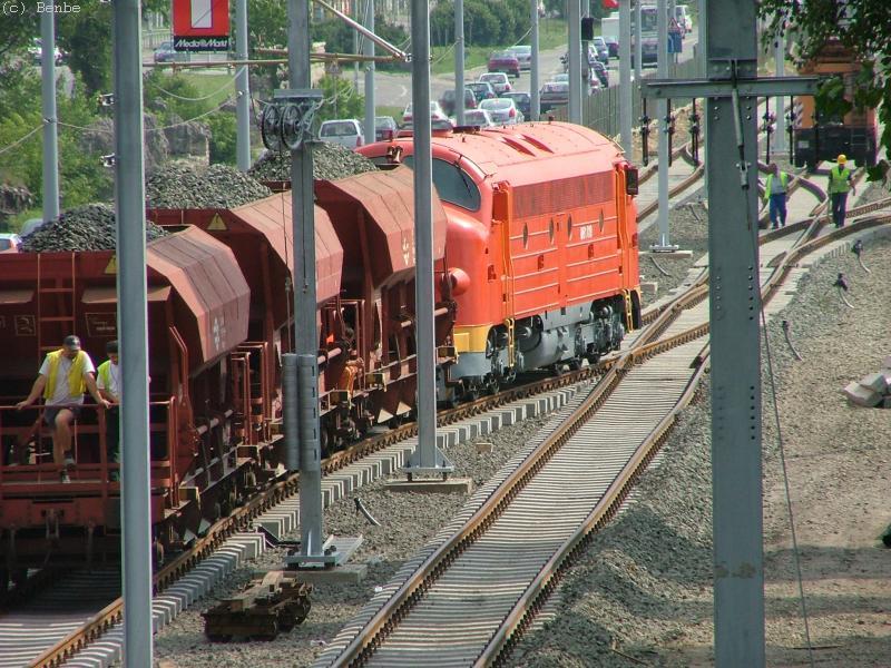 M61 019 és a Faccp kocsik Aquincum elágazásnál fotó