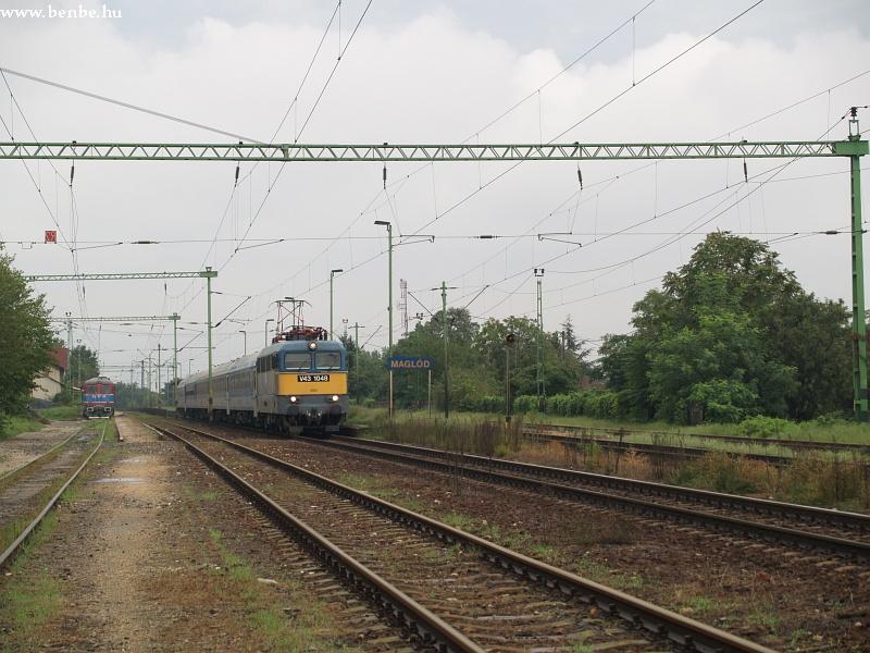 V43 1048 és InterCity vonata halad el a GFR Sulzer mellett fotó