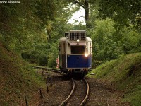 The historic railcar of the Children's Railway near H�v�sv�lgy