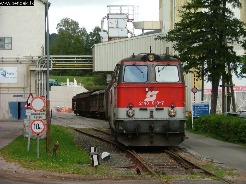 2143 013-7 Puchberg gipszgyáránál fotó