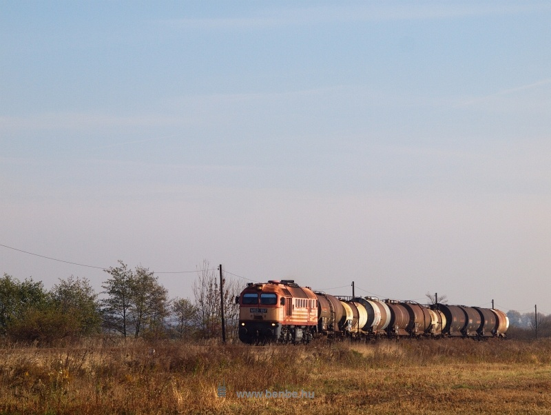 The M62 157 with the day's only freight train photo