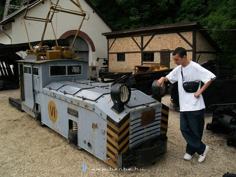 Ganz bányamozdony a csingervölgyi bányászati múzeumban fotó