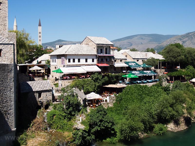 Mostar - kilátás az Öreg hídról fotó