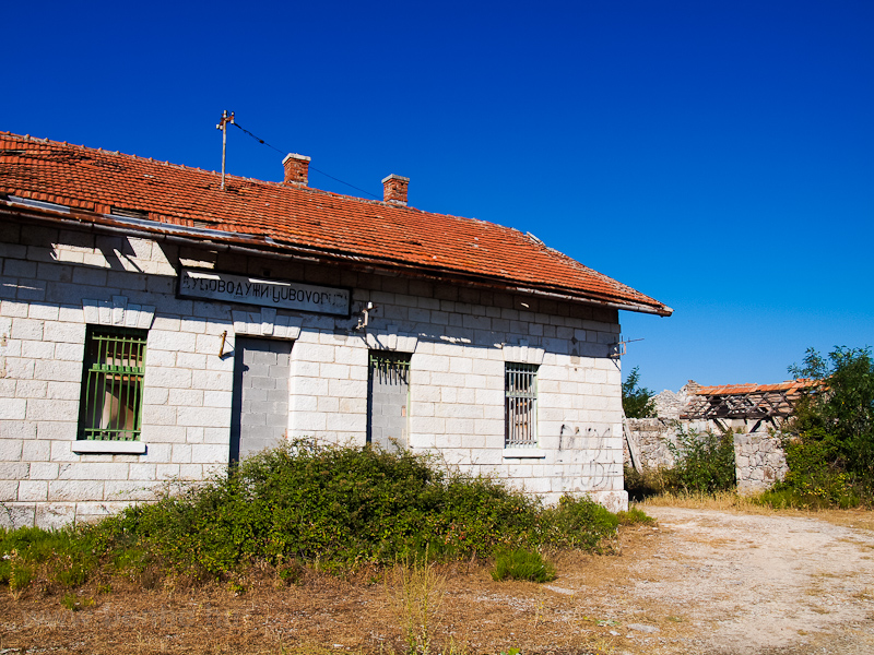 The old narrow-gauge railway station of Ljubovo-Duži, between Trebinje and Hum photo