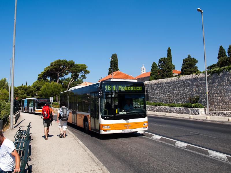 Autóbuszok Dubrovnikban fotó