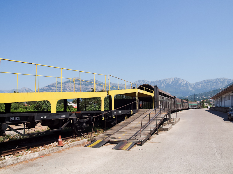The loading station of the car carrier trains at Bar photo