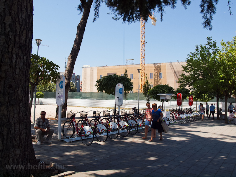Low-tech public bike rental at Tirana photo
