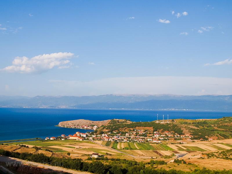 Lim falucska az Ohrid-tó pa fotó