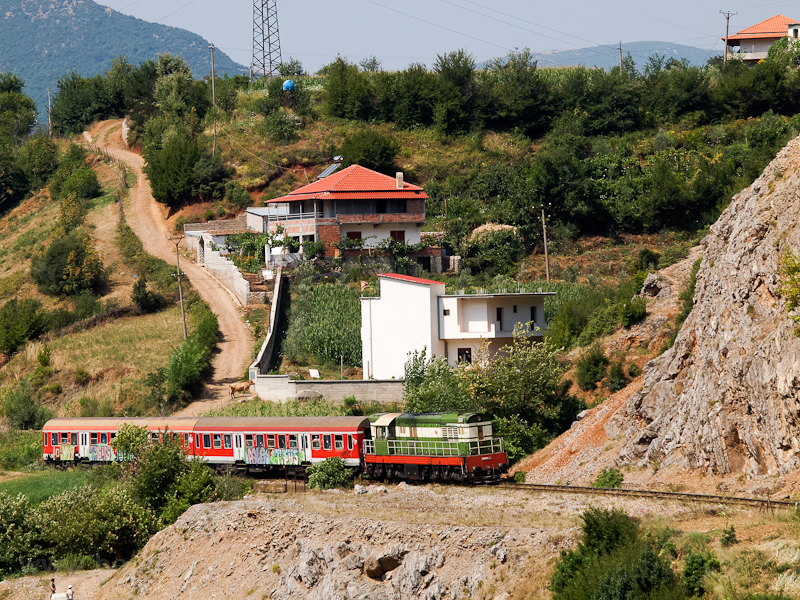 The HSH - Albanian Railways T669-1059 seen between Elbasan and Mirake photo