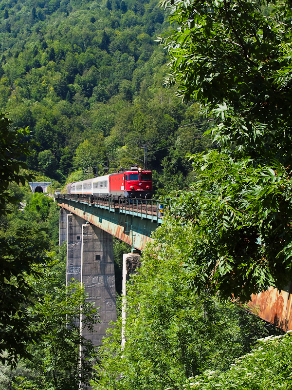 The Serbian Railways 461-021 is seen on the Tara-viadukt near Kolasín photo