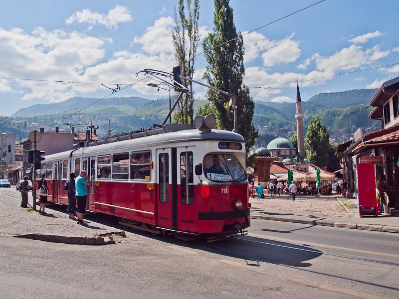 Szarajevo - bécsi E1-es villamos az egyes vonalon fotó
