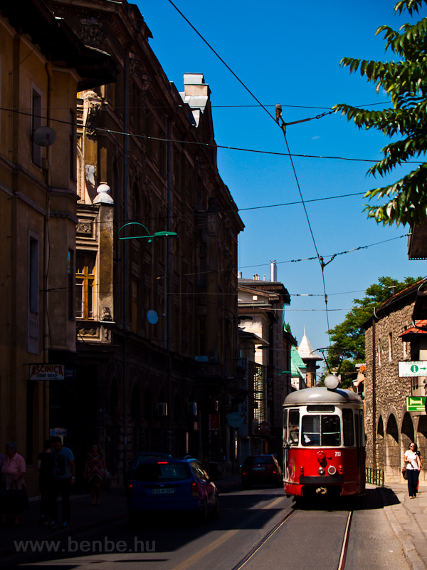 Sarajevo - a Vienna E1 tram at Bascarsija photo