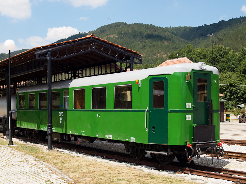 An ex-Ganz DMU rebuilt as a standard passenger carriage seen at Šargan-Vitasi station photo