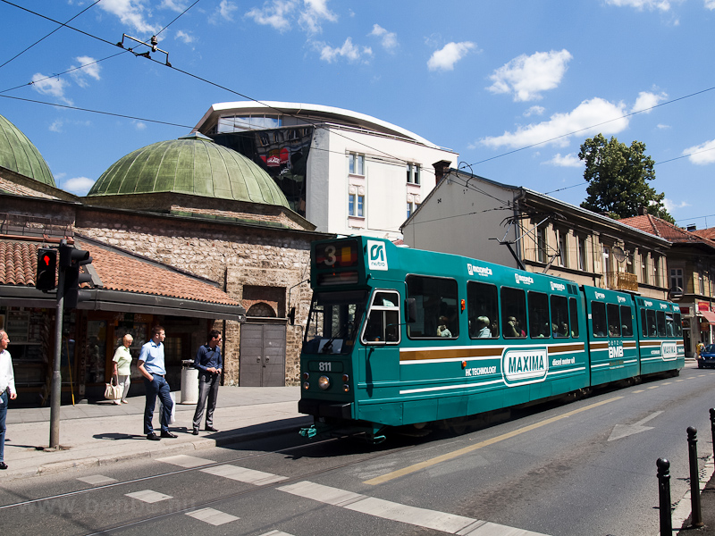 Sarajevo - tram donated by Amsterdam by a Turkish bath photo